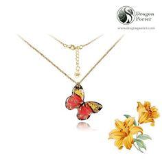 Licorne Papillon Rainbow art cabochon verre argent Tile Chaîne Collier Pendentif