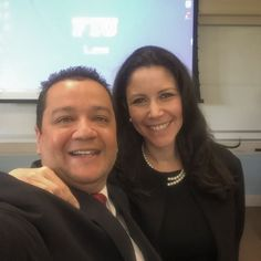 """Great morning meeting my FIU FIJI Brother Alex """"Papa Bear"""" Acosta's beautiful wife Ileana and lecturing at FIU Law with #RedTieDoCare regarding Leadership Business and Social Media to international business and legal practitioners. You are not working unless you are networking! Let me know to present to your group. #fiu #fiulaw #fiualumni #fiji #fijifiu #phigammadelta #selfie #selfietour #selfieking #litigation #socialmedia #in #facebook #RedLensDoCare #leadership #business #networkmarketing…"""