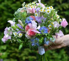 Summer posy - just picked from the garden look
