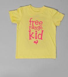 Free range kid tshirt - MADE IN USA