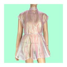 Handmade Iridescent Open Back Dress with Pockets - S/M, M/L by TROPICULT on Etsy