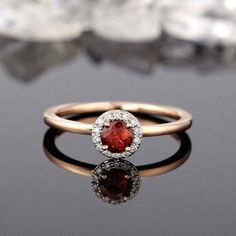 Image result for garnet engagement rings