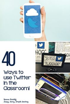 40 Ways to use Twitter in the Classroom! Tips, suggestions, resources and more to incorporate student led Twitter in your classroom for stakeholder and parent communication, collaboration, researching, reading, technology integration, writing and more! Get started here!