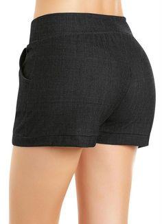 Short Preto com Bolsos - Moda Pop