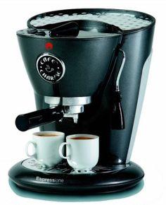Amazon.com: Espressione 1332-A Cafe Charme Espresso/Cappuccino Machine, Anthracite Gray: Kitchen & Dining