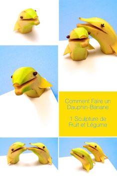 1 sculpture de fruit et légume: Comment Faire un Dauphin-Banane