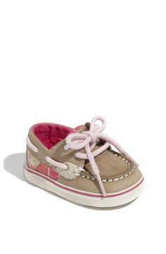 Baby Sperry. Baby shoes are normally adorable, but these are just soooo frickin' cute!!!
