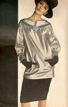 Sondra Peterson in Yves Saint Laurent, Vogue Sept. 1962 | Flickr - Photo Sharing!