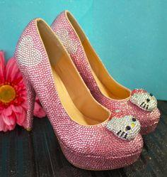 Hello kitty crystal heels