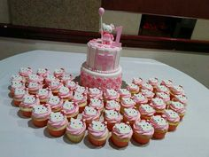 Hello Kitty cake and cupcakes https://www.facebook.com/roartasticdesserts/