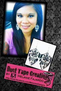 Duct Tape Earrings Any Style by MelsTapeCreations on Etsy, $6.50