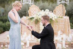 Cinderella Themed Engagement: Cinderella proposal   Planner -  @slicpins  - Wedding Photographer - @ryananddenise2 #youreventflorist #engagement