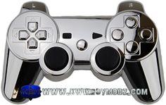 Chrome DualShock 3 PS3 Controller - KwikBoy Modz... Shiny...