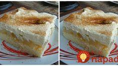 Balkánsky jablkový koláč – torta na plechu: Tá piškóta je jemná ako vata, používam ju aj na zákusky a torty! Cake Cookies, Vanilla Cake, Tiramisu, Sweet Recipes, Cheesecake, Food And Drink, Pudding, Sweets, Baking