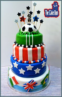The WORLD CUP SOCCER Cake  by THE CAKE DON