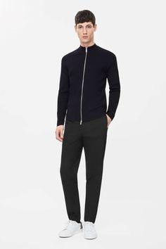 COS Zip-up ribbed cardigan £79