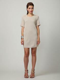 M. Patmos Silk/Cashmere Shift Dress $621