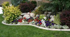 DIY bunte gartenschau mit steingarten