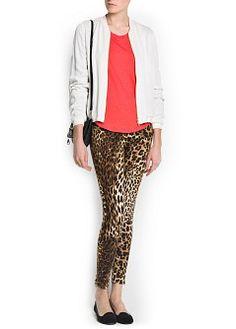 MANGO - PRENDAS - Pantalones - Leggings estampado leopardo