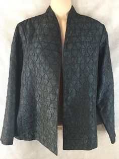 Laura Ashley Petite Medium Textured Shiny Open Jacket Blazer Lined  #LauraAshley #Blazer