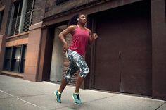 Serena Williams running outdoors...