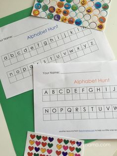 alphabet hunt: on th