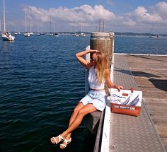 Tiffany Boddey x Louella Odié Sail Boat Bag, available online at www.louellaodie.com