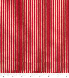 Holiday Inspirations Fabric-Gold Stripe On Red Item #11039401