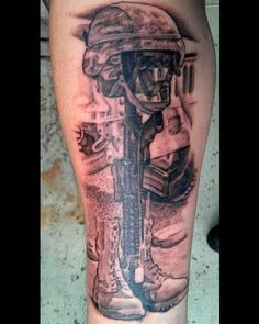 fallen soldier memorial art pin soldiers the most memorable tattoo designs was heart with a. Black Bedroom Furniture Sets. Home Design Ideas