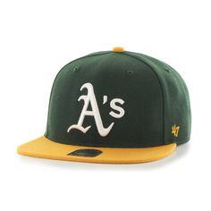 Amazon.com   MLB Oakland Athletics Sure Shot Two Tone Captain Adjustable  Snapback Hat 8618b53fed8