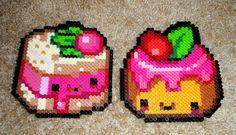 Cute cakes perler beads by Anne Quinn