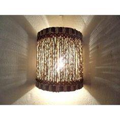 Arandela Meia Lua P Açaí , Luminárias Rusticas Artesanais - R$ 22,00 no MercadoLivre