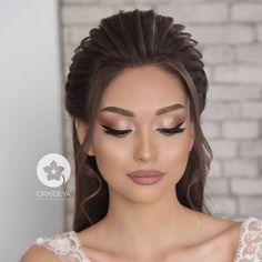 Fall Wedding Makeup, Natural Wedding Makeup, Wedding Makeup Looks, Bridal Hair And Makeup, Bride Makeup, Wedding Hair And Makeup, Hair Makeup, Quince Hairstyles, Bride Hairstyles