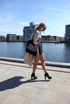 Short Skirt && a Long Jacket | Kier Couture | Pinterest | Coats ...