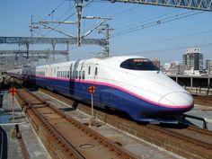 Model Top speed 275 km/h mph), 630 seats, engines Shinkansen: Introducing The Five Fastest Regular Super Express Trains In Japan : TreeHugger Train Tracks, Train Rides, Locomotive, Japan Train, High Speed Rail, Speed Training, Public Transport, Model Trains, Railroad Tracks
