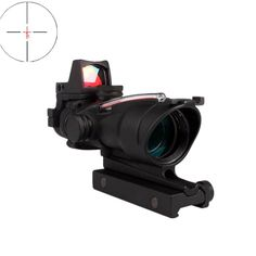 Tactical ACOG 4X32 Real Fiber Source Red Dot Sight w/ RMR Micro Red Dot Red Dot Sight, Sources Of Fiber, Red Dots, Weapon, Badass, Stones, Weapons, Gun, Firearms