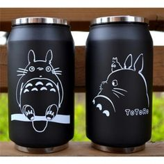 Bouteille Canette Totoro Black & White #1