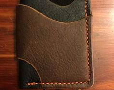Minimalist Leather Wallet by RCSmithLeatherworks on Etsy