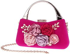 New Trending Shoulder Bags: Pulama Womens Rhinestone Hand Clutch Floral Pearl Velvet Evening Purse Cocktail Party Handbag(Fuchsia). Pulama Women's Rhinestone Hand Clutch Floral Pearl Velvet Evening Purse Cocktail Party Handbag(Fuchsia)  Special Offer: $32.28  166 Reviews Feature*100% brand new and high quality.*This clutch follows fashion trend closely.*Available for 5 colors optional.*Removable shoulder drop...