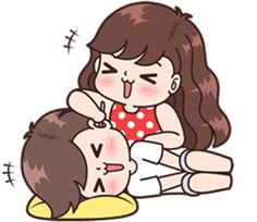 Sticker pack for cute couples in love Cute Chibi Couple, Love Cartoon Couple, Cute Couple Comics, Comics Love, Cute Love Cartoons, Cute Couple Art, Cute Love Pictures, Cute Cartoon Pictures, Cute Love Gif