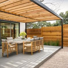 There are lots of pergola designs for you to choose from. First of all you have to decide where you are going to have your pergola and how much shade you want. Pergola With Roof, Outdoor Pergola, Pergola Shade, Patio Roof, Pergola Plans, Pergola Canopy, Modern Pergola, Awning Patio, Steel Pergola