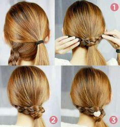 peinado, tenza, sencillo, fácil rápido, paso a paso