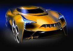Car sketches by Boson, Ruo-Xiang Huang at Coroflot.com