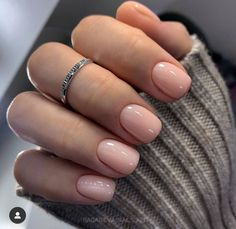 Not as complicated as floral nail design, but have an . Summer Acrylic Nails, Cute Acrylic Nails, Oval Nails, Toe Nails, Blush Pink Nails, Milky Nails, Acryl Nails, Nagellack Design, Classic Nails