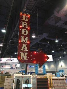 Trade show signs, vintage style arrows, arrow signs, tradshow decor, marquee arrows.
