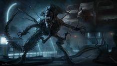 Xenomorph Queen - Aliens: Colonial Marines Production Illustration - Sarel Theron Concept Art