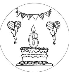 Verjaardagshoed maken • Juf Maike - leerkracht website en blog Birthday Doodle, Birthday Card Drawing, School Birthday, Birthday Cards, Free Adult Coloring Pages, Colouring Pages, Embroidery Flowers Pattern, Embroidery Kits, Fall Crafts For Kids