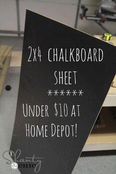 Home Depot Chalkboard