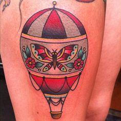 hot air balloon- Ashley Love @ thicker than water tattoo