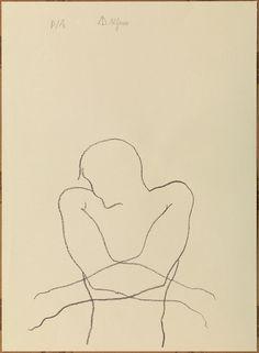 ANDREU ALFARO. Sin título Litografía. Prueba de autor 40x55cm